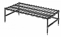 "Eagle Group DR2424-C 24"" x 24"" chrome dunnage rack."
