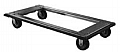 "Eagle Group TD2448-SP 24"" x 48"" aluminum truck dolly, swivel caster, 300 lb cast"