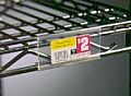 "Eagle Group A225494 3"" plastic label holders for reverse mat shelves. Fits all s"