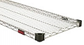 "Eagle Group QA1448C 14"" x 48"" chrome, Quad-Adjust wire shelf."