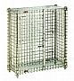 "Eagle Group MSC1436 16"" x 38"" x 40"" chrome-plated stationary mini security unit."