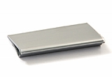 "A204331 3"" gray plastic label holders for standard shelving. Fits all shelf lengths."