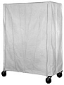 "CZC-54-1836 18"" x 36"" white coated nylon with zipper cart cover. 54"" post height."