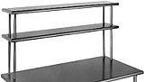 "DOS1036-16/4 10"" x 36"" 16/4 gauge, double deck non-adjustable overshelf."
