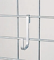 "LH  2 1/4"" x 4 1/4"" x 3/8"" large snap hook. Made of heavy gauge chrome-plated mild steel."