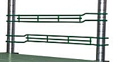 "LSL18-1VG 1"" Valu-Gard green epoxy front-to-back ledge, 18"" wide."