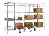"MUK24-E 24"" EAGLEgard green epoxy, mobile unit kit with 74"" high post (casters included in post height) - master trak overhead track high-density storage system."