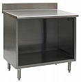 "OB2436SE-BS 24"" x 36"" spec-master enclosed worktable with backsplash and open front."