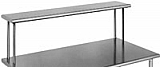 "OS1036-16/4 10"" x 36"" 16/4 gauge, single deck non-adjustable overshelf."
