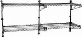 """PWM14-1S (1) 14""""-width shelf with 14"""" post, stainless steel finish, mid unit - prepackaged, adjustable post wire wall mount."""