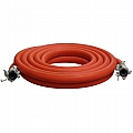 "10-112RED-025-1 1-1/2"" Air Hose Assembly (Red) W/Couplings, 25 Feet"