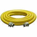"10-200YEL-050-1 2"" Air Hose Assembly (Yellow) W/Couplings, 50 Feet"