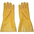 Gloves, Gum Rubber, Cotton Lined, Replaces Leather