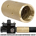 "1MV-12B Blast Hose Coupling, #100 Metering, 2"" NPS, Brass, 175 PSI Max, Fits 1-1/2"" Blast Hose With 2-3/8"" OD"