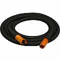 "1"" Blast Hose Assembly, Black, 25 Feet, Nylon Fittings"