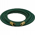 "1"" Blast Hose Assembly, Green, 25 Feet, Brass Fittings"