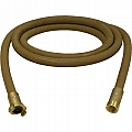 "1"" Blast Hose Assembly, Tan, 12-1/2 Ft, Brass Fittings"