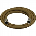 "1-1/4"" Blast Hose Assembly W/ Aluminum Couplings, 12-1/2' Tan Blast Hose"