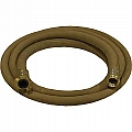 "1-1/4"" Blast Hose Assembly W/ Brass Couplings, 12-1/2' Tan Blast Hose"