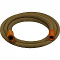 "1-1/4"" Blast Hose Assembly W/ Nylon Couplings, 12-1/2' Tan Blast Hose"