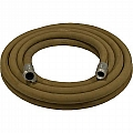 "1-1/4"" Blast Hose Assembly W/ Aluminum Couplings, 50' Tan Blast Hose"