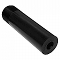 """Nozzle, SiAION, Long Venturi, 1/4"""" Bore, 1"""" Entry, 1-1/4"""" NPSM, All Poly Jacket"""