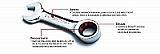 GearWrench 9510 Stubby Combination Ratcheting Wrench METRIC 10MM