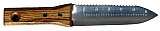 "Growtech KNK-DA1S Hori Hori 6.3/4"" Blade, Wood Handle, SS"