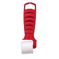 "Hyde 30122 Red Star Plastic Roller, 1-1/4"" Flat"