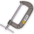 "Ivy Classic 16010 1"" C Clamp, Zinc Plated"