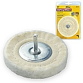 "Ivy Classic 39125 4"" x 1/4"" Spindle Cotton Buffing Wheel"