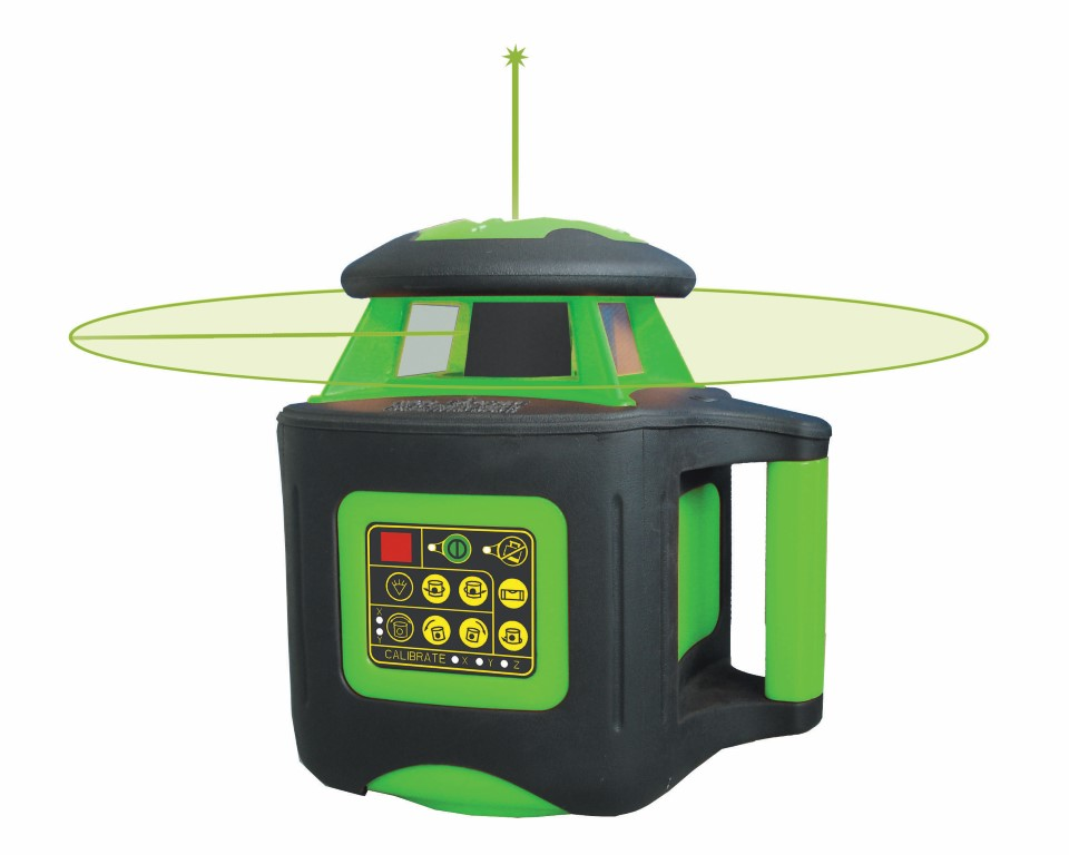 Johnson Level 40-6547 Electronic Self-Leveling Horizontal & Vertical Rotary Laser with GreenBrite® Technology Kit
