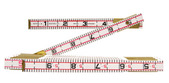 """Lufkin 1066D 6' x 5/8"""" Engineer's Scale Wood Rule Red End"""