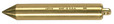 Lufkin 590 20 oz Plumb Bob, Solid Brass Inage, Cylindrical Shape