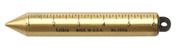 Lufkin 590G 20 oz Plumb Bob, Solid Brass, Graduated in Inches, Blunt Point