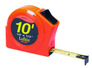 "Lufkin HV1010 1/2"" x 10' Hi-Viz Orange Series 1000 Power Tape"
