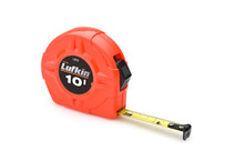 "Lufkin L610 1/2"" x 10' Hi-Viz Orange Power Return Tape"