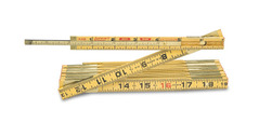 """Lufkin X48 8' x 5/8"""" Wood Rule Red End with 6"""" Slide Rule Extension"""