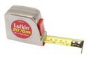 """Lufkin Y46CME 25mm (1"""") x 6m (20') Power Return Tape, Chrome-plated Case"""