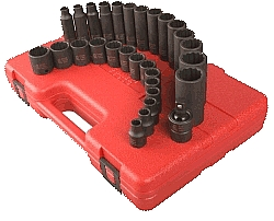 "Sunex SX3330 3/8"" Drive 12 Pt. Master Metric Impact Socket Set at Sears.com"