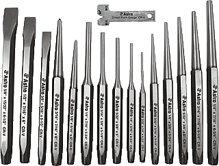 Astro Pneumatic APT1600 16 Pc. Punch & Chisel Set