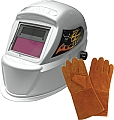 Astro Pneumatic APT8077SE Automatic Deluxe Solar ADF Welding Helmet with Free Welding Gloves
