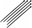 "K Tool International KTI78070 7"" Black Nylon Ties - 100 Pk."