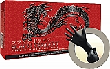 Microflex MFX BD-1002-PF Black Dragon Powder-Free Black Latex Gloves, Medium