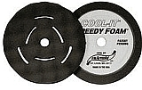 "Sm Arnold SMA44-058 2 Pk. 8"" Black Foam Cool It Waffle Style Polishing Pad"