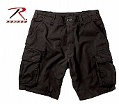 Rothco 2133 Black Vintage Paratrooper Cargo Shorts-4XL