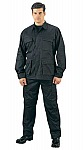 Rothco 5821 Black Rip-Stop BDU Pants-Longs