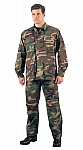 Rothco 5957 Woodland Camouflage Rip-Stop BDU Pants-Short Lengths