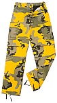Rothco 8878 Stinger Yellow Camouflage BDU Pants-Longs