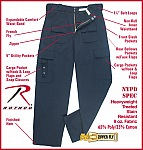 Rothco 9861 P.S.T. – Public Safety Tactical Pant, Midnite Navy-30-42